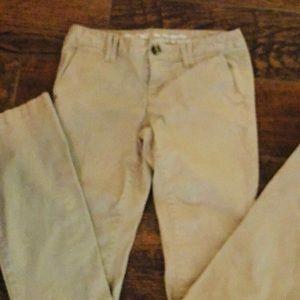 Mossimo mid rise boot cut khaki pants
